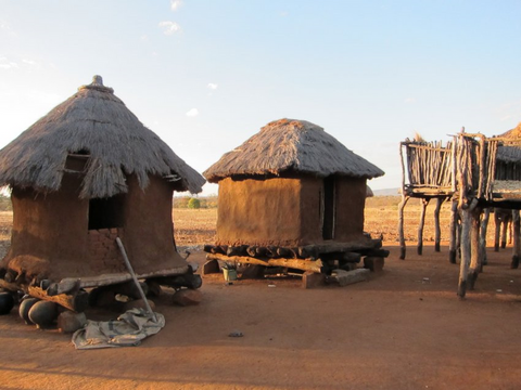 limpopo river african huts