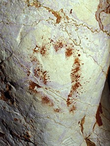 paleolithic hand incomplete bent fingers? grotte cosquer france