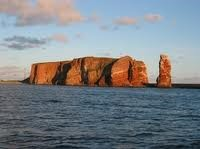 cliffs of island of Heligoland