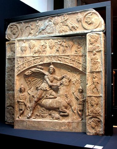 Monumental pivoting altar of Mithras in Heddernheim Germany