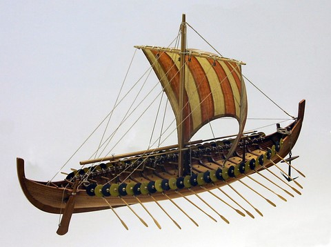 Viking ship Gokstad model