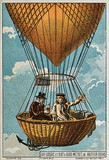Gay-Lussac and J.B. Biot in hydrogen ballon in 1804