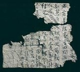 1st known sample of chinese paper